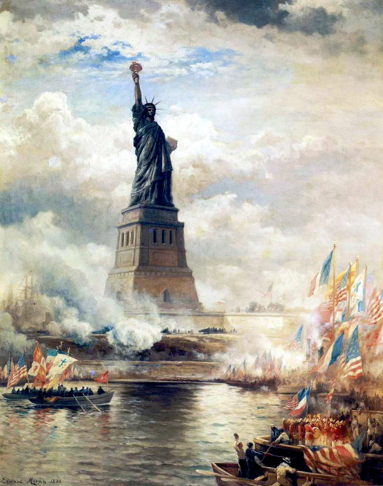 EdwardMoran-UnveilingTheStatueofLiberty1886Large