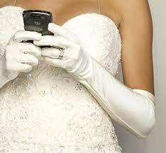 bride texting